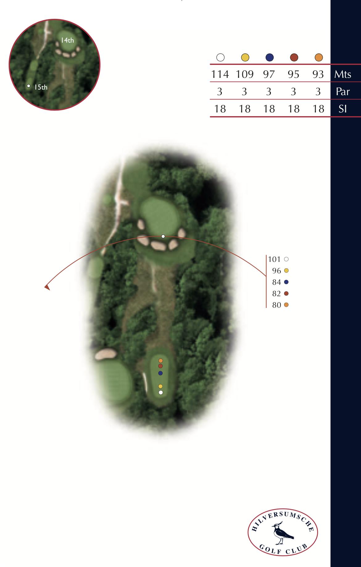Hole 14 plattegrond